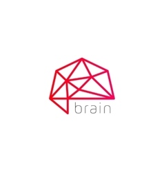 Abstract brain logo generate idea design template vector