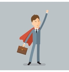 Super businessman concept of success vector