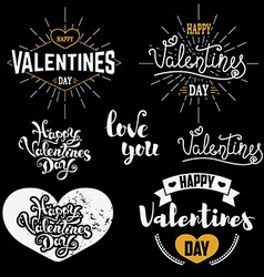 Valentines day badges set vector