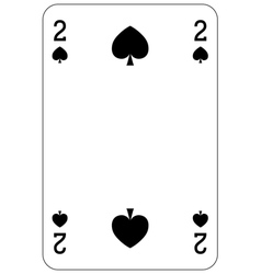 Poker playing card 2 spade vector