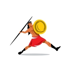 Spartan warrior cartoon vector