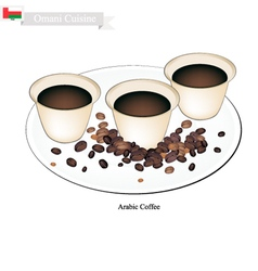 Traditional arabic coffee popular dink in oman vector