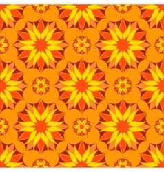 Seamless orange color floral mandala vector