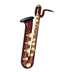 A musical baritone saxophone vector