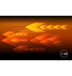 Abstract tech motion lines and arrows vector