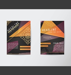 Abstract Triangle design Thai style Brochure Flyer vector image vector image