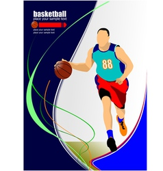 al 1011 basketball 04 vector image