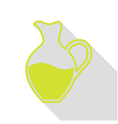 Amphora sign pear icon with flat style shadow vector
