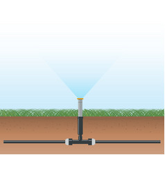 automatic water irrigation system vector image