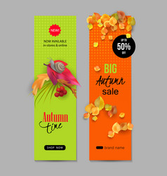 Autumn advertising banner vector