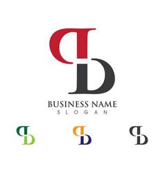 B letter logo business template vector