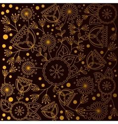 Background with golden poppy dandellion bell vector