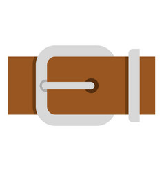 Brown elegant leather belt icon isolated vector