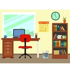 business office or home workplace vector image vector image