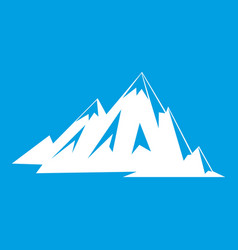 Canadian mountains icon white vector