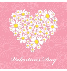 daisies valentines card vector image vector image