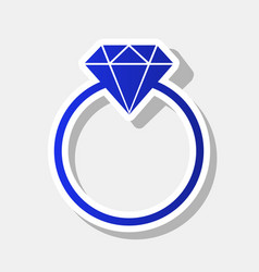 diamond sign new year bluish vector image vector image