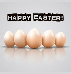 Easter of chicken eggs on white background vector