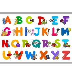 educational alphabet for children vector image