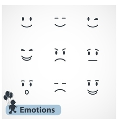 Faces emotions vector image