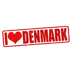 I love denmark stamp vector