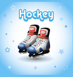 ice hockey skates vector image