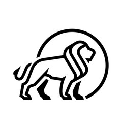 lion logo emblem monochrome logo vector image vector image