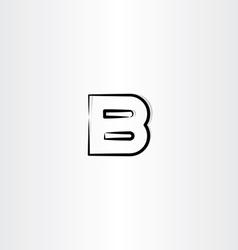 logo letter b logotype b black symbol vector image vector image
