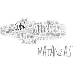 Matanzas word cloud concept vector