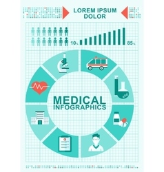 medical infographics concept diagram vector image vector image