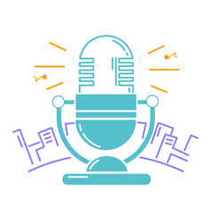 microphone for the radio vector image