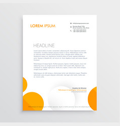 Minimal letterhead design with orange and white vector