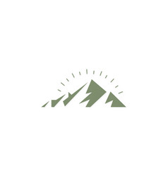 Mountain abstract nature logo vector