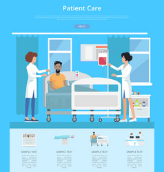 patient care services vector image vector image