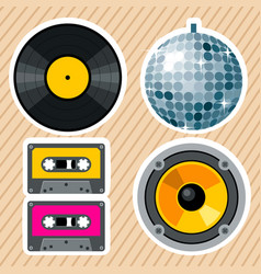 Retro vintage design elements vector
