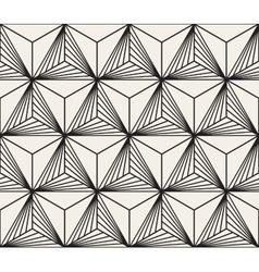 Seamless black white geometric bursting vector