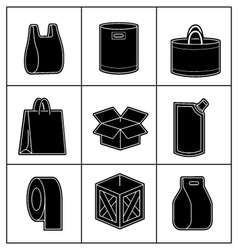 Set of package icons vector image