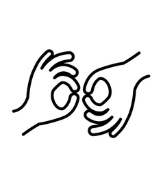 sign language isolated icon design vector image