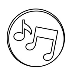 silhouette symbol music sign icon vector image