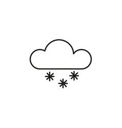 snow icon vector image vector image