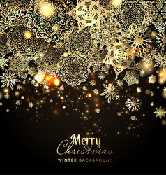 Snowflake background holiday backdrop vector image