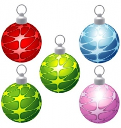 special Christmas balls vector image vector image