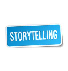 Storytelling square sticker on white vector