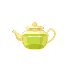 Teapot flat isolated isolated vector