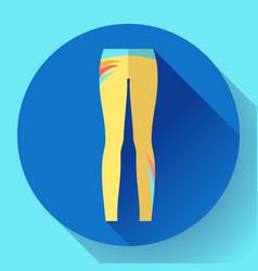Woman sportswear - sport and yoga leggings vector