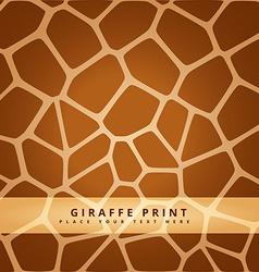 giraffe seamless pattern vector image