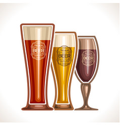 glass cups of beer vector image