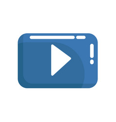 red video play button internet or youtube button vector image
