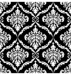 Ornate damask seamless pattern design vector image