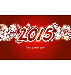 2015 Christmas and New Year Greeting Card vector image